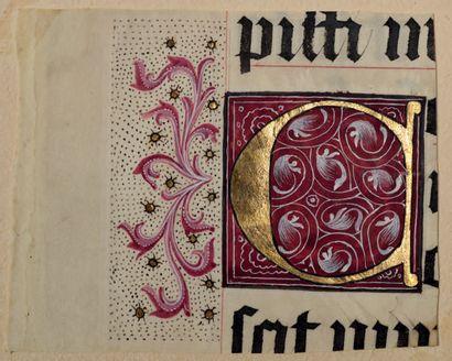 Trois initiales ornées extraites d'un livre...