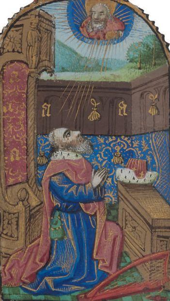 Livre d'heures (à l'usage de Rouen). En français et en latin, manuscrit enluminé...