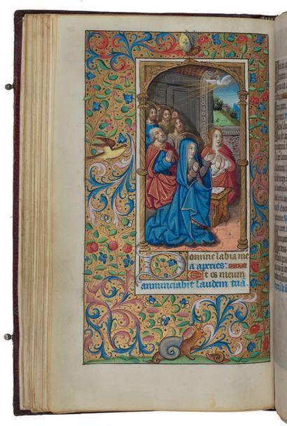 Livre d'heures (à l'usage de Paris). En latin, manuscrit enluminé sur parchemin....