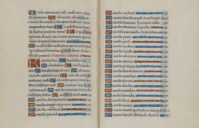 Psautier férial. En français, manuscrit enluminé sur parchemin. France, Paris, vers...