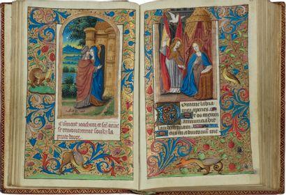 Livre d'heures (usage de Paris). En latin et en français, manuscrit enluminé sur...