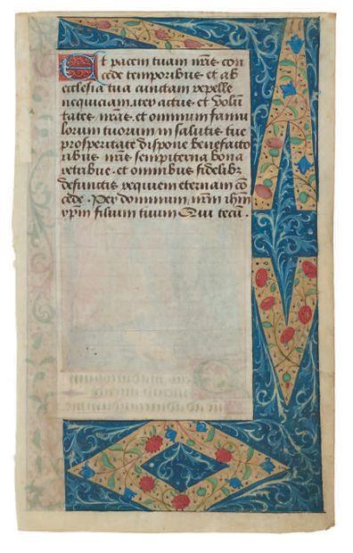 Maître du Romuléon de Cluny Feuillet extrait d'un livre d'heures, début Heures de...