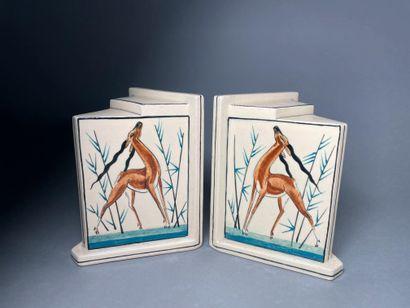 Robert LALLEMANT (1902-1954) Antilopes Paire...
