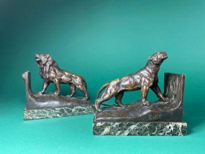Antoine BOFILL (c.1875-1939/53) Lion et lionne...