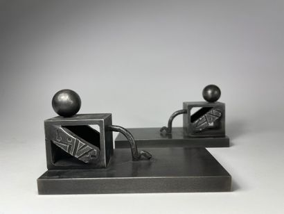 Edgar BRANDT (1880-1960) Structure géométrique...