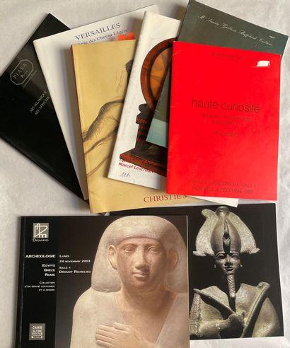 Lot de 34 catalogues de vente (HDVM, Christie's,...