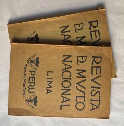 Lot de 2 revues : Revista Museo nacional...