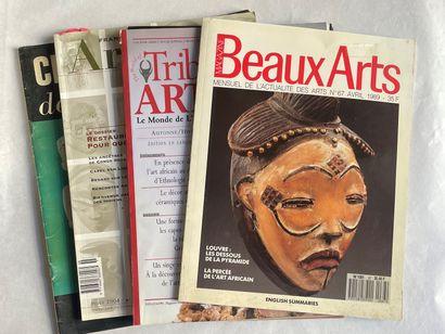 Lot de 4 magazines :  - Art Tribal français...