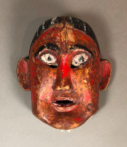 Masque Himalaya, Népal  Bois dur, pigments...