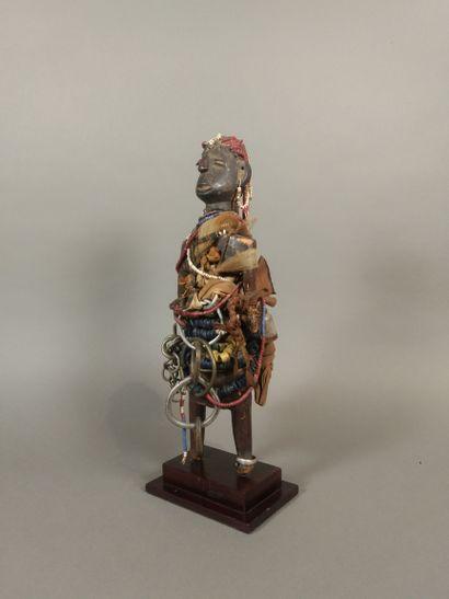 Statuette Namji (?), Nigeria Cameroun  Bois...