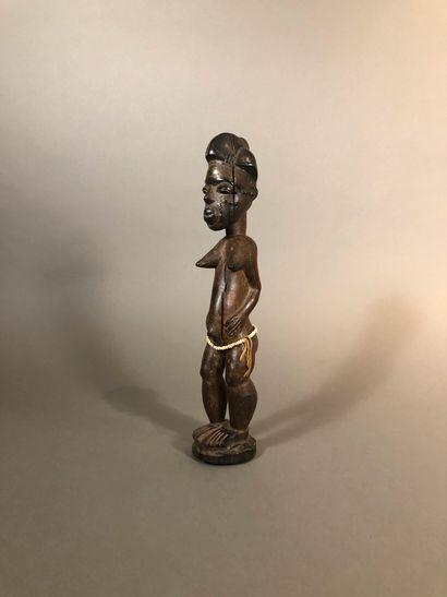 Statue Baoule, Côte d Ivoire  Bois à patine...