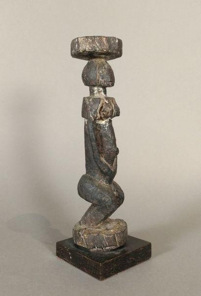 Statuette Dogon, Mali  Bois à patine brun...