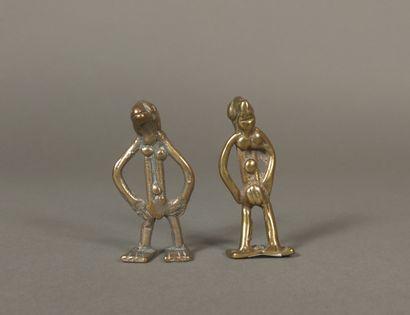 Lot de deux pendentifs de type Senoufo, Côte...