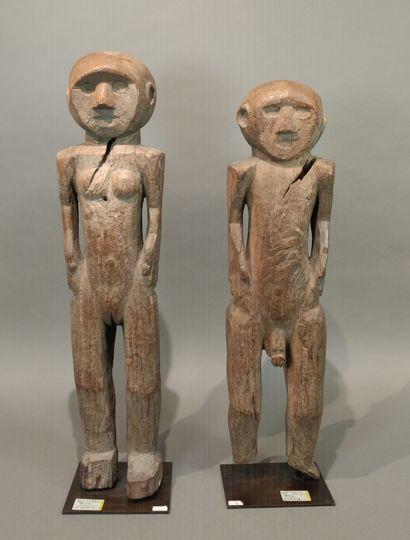 Ensemble de deux statuettes Tiv, Nigeria...