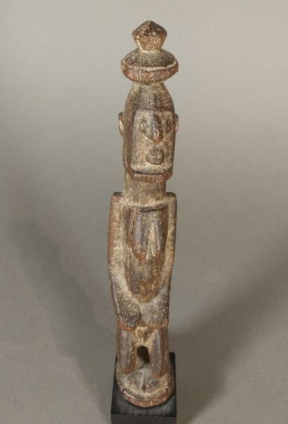 Statuette Dogon, Mali  Bois à patine brune...