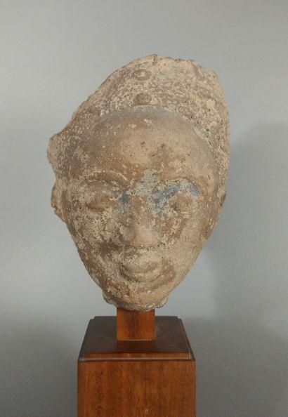 Tête funéraire Ashanti, Ghana  Terre cuite...