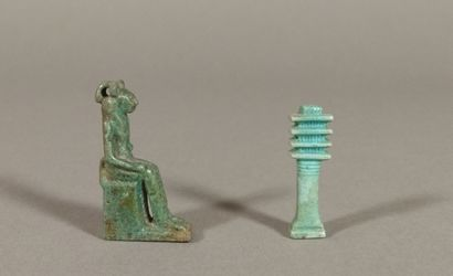Lot including an amulet representing Sekhmet...
