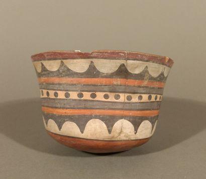 Coupe orée d'un animal, culture Nazca 100...