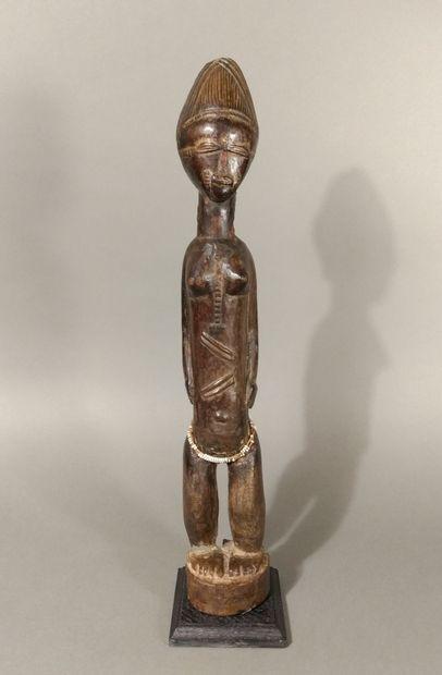 Statue Baoulé, Côte d'Ivoire  Bois, perles...