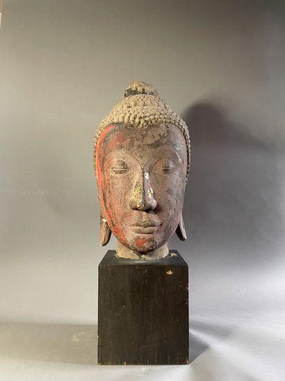 THAILANDE - XVe siècle  Importante tête de...