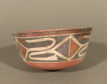 Coupe à décor peint de frondes, culture Nazca...