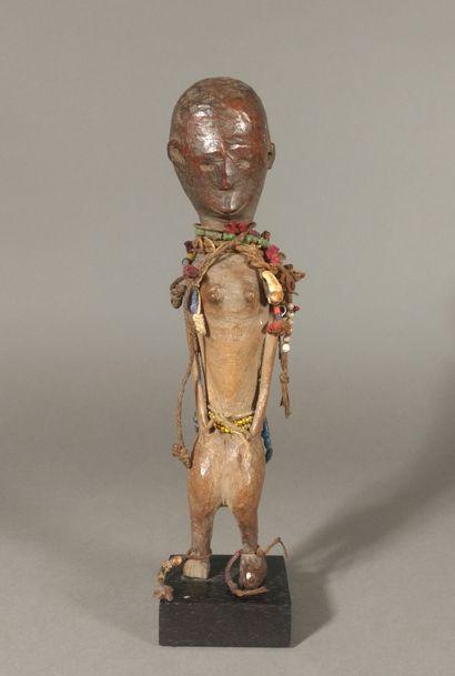 Statuette Nyamwezi, Tanzanie  Bois, perles...