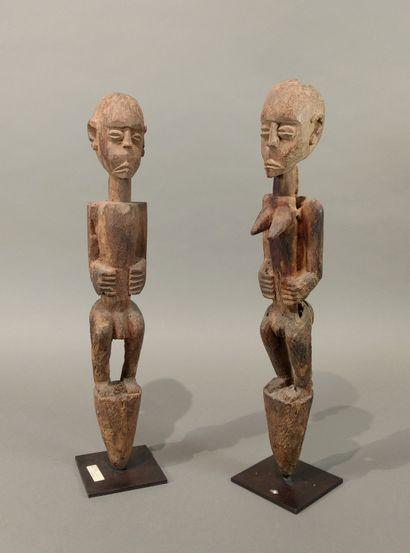 Couple de statuettes bochio Fon, Bénin  Bois...