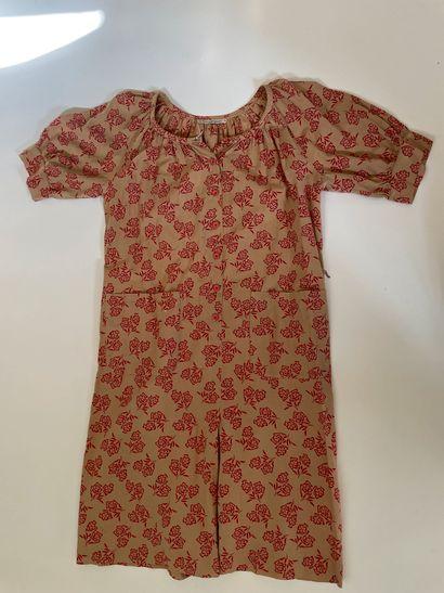 GUY LAROCHE – Robe à motifs aztèques rouges...