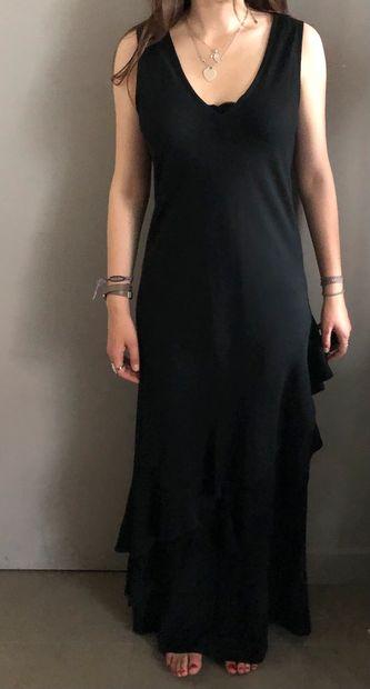 GÉRARD DAREL Robe longue noire à volants....