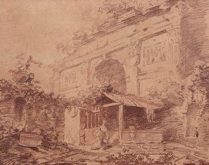 Entourage de Hubert ROBERT (1733-1808)