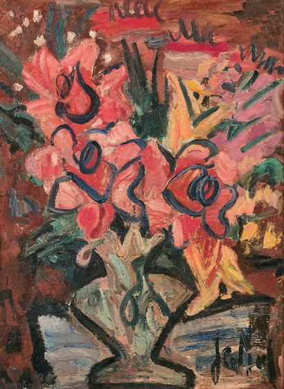 GEN PAUL (1895-1975) Bouquet Huile sur toile, signée en bas à droite 81 x 60 cm ...