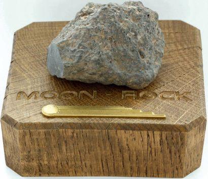 MÉTÉORITE LUNAIRE COMPLÈTE 60 x 45 mm pour la surface coupée, 181 g. Météorite lunaire,...