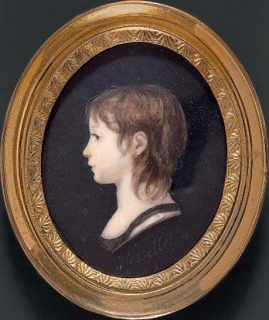 FLESSELLES (ACTIF À PARIS ENTRE 1798 ET 1802) Portrait de jeune fille en buste de...