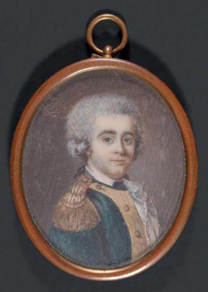 MADEMOISELLE DE NOIRETERRE (PARIS, 1760 - VERS 1819) Portrait en buste, vers la droite,...