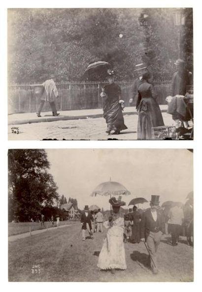 JOSEPMARIA CAÑELLAS (18561902) Courses à Auteuil Promeneur à Montmartre, rue Tardieu...