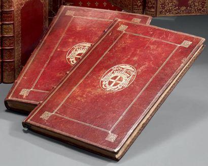 PONTIFICALE ROMANUM. Paris, 1664; 3 parties...