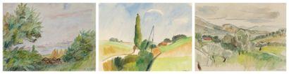 TROIS AQUARELLES: ELYSÉE CAVAILLON (1873-1954)...