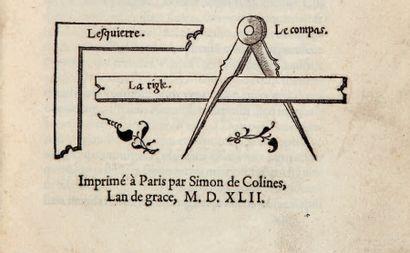 BOUELLES (Charles de) [Livre singulier & utile, touchant l'art et practique de Geometrie]....