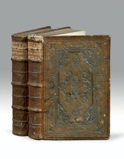 Flavius Josephe De l'Antichita giudaiche. Venise, Vincenzo Valgrisi, 1544. 2 volumes...