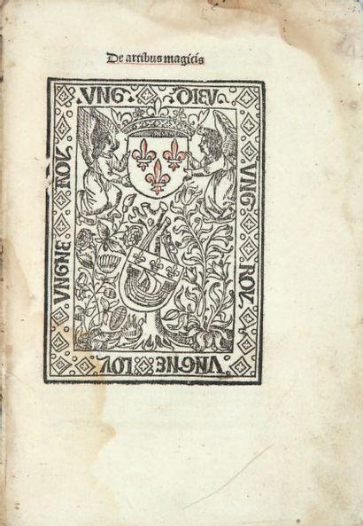 INCUNABLES PARISIENS. - Ensemble 9 ouvrages en un volume in-4, veau brun estampé...