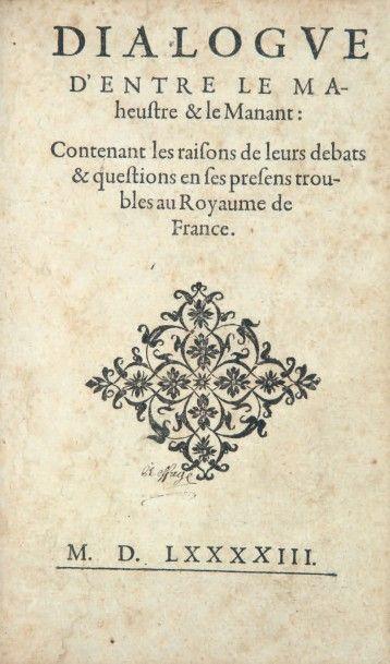 [CROMÉ (François Morin, sieur de)]