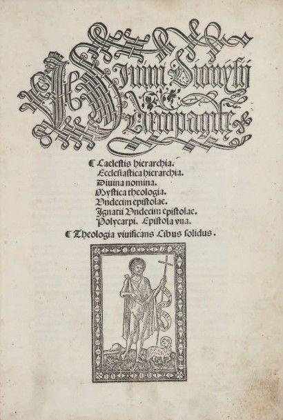 [Opera]. S.l.n.d. [au colophon]: Venise, Giovanni Tacuino de Tridino, 21 novembre...