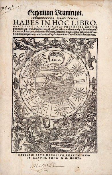 [FINE (Oronce)] La Theorique des cielz, mouvem?s, et termes practiques des sept planetes,...