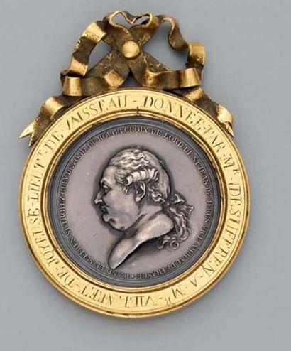 Médaille de table en argent offerte par le vice-amiral Suffren de Saint-Tropez à...