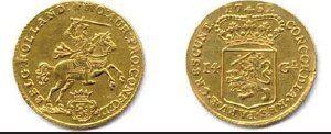 PROVINCE DE HOLLANDE 14 Gulden au cavalier...