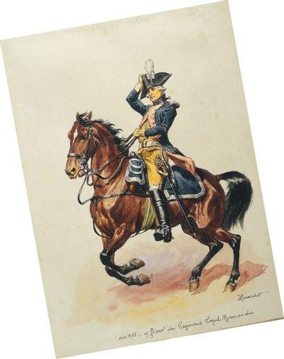 Officier du Régiment Royal Normandie, vers...