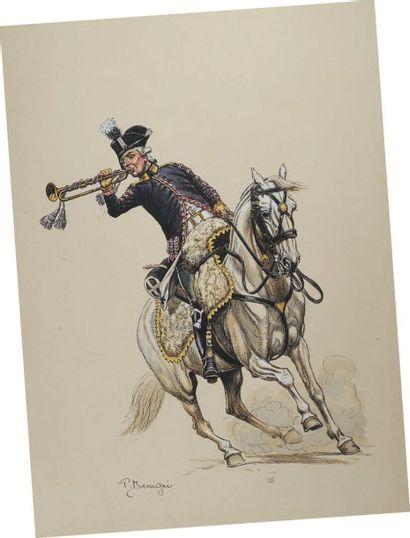 Trompette des Chasseurs à Cheval du Régiment...