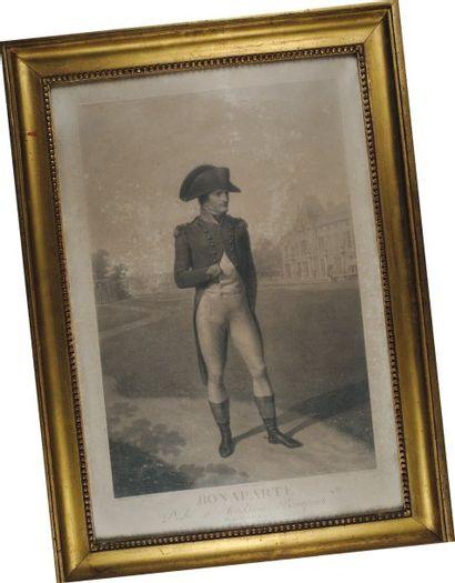 Napoléon Bonaparte à la Malmaison, gravure...