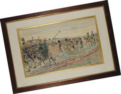 Défilé militaire sous le Premier Empire,...