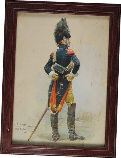 Carabinier 1804 par Alphonse Lalauze. Signé...